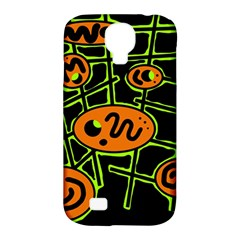 Orange And Green Abstraction Samsung Galaxy S4 Classic Hardshell Case (pc+silicone) by Valentinaart