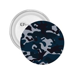 Blue Camo Pattern 2.25  Buttons by artpics