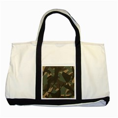 Woodland Camo Pattern Two Tone Tote Bag by artpics