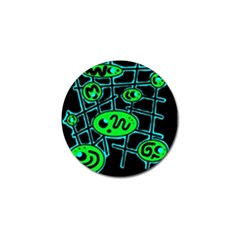 Green And Blue Abstraction Golf Ball Marker (10 Pack) by Valentinaart