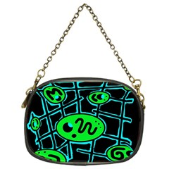 Green And Blue Abstraction Chain Purses (one Side)  by Valentinaart