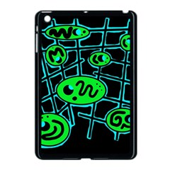 Green And Blue Abstraction Apple Ipad Mini Case (black) by Valentinaart