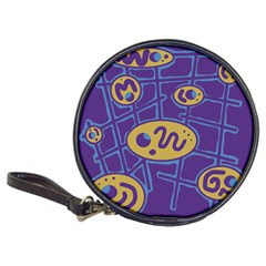 Purple And Yellow Abstraction Classic 20 Cd Wallets