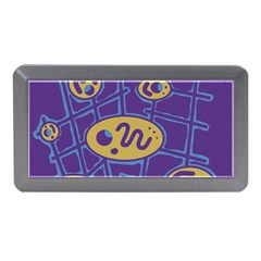 Purple And Yellow Abstraction Memory Card Reader (mini) by Valentinaart