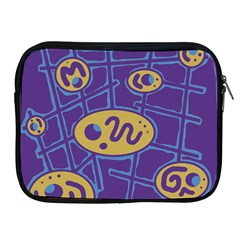 Purple And Yellow Abstraction Apple Ipad 2/3/4 Zipper Cases by Valentinaart