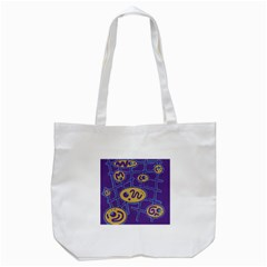 Purple And Yellow Abstraction Tote Bag (white) by Valentinaart