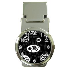 Black And White Crazy Abstraction  Money Clip Watches by Valentinaart