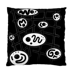 Black And White Crazy Abstraction  Standard Cushion Case (one Side) by Valentinaart