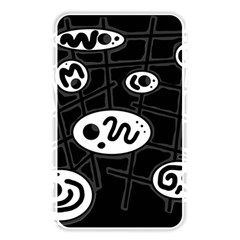 Black And White Crazy Abstraction  Memory Card Reader by Valentinaart