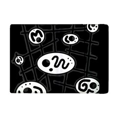 Black And White Crazy Abstraction  Apple Ipad Mini Flip Case by Valentinaart
