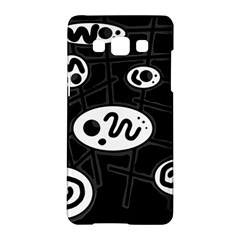 Black And White Crazy Abstraction  Samsung Galaxy A5 Hardshell Case  by Valentinaart