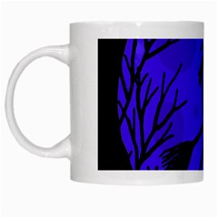 Halloween Witch   Blue Moon White Mugs by Valentinaart