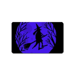 Halloween Witch   Blue Moon Magnet (name Card) by Valentinaart