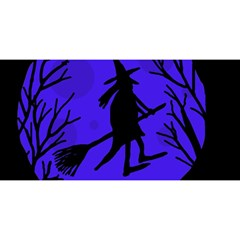 Halloween Witch   Blue Moon You Are Invited 3d Greeting Card (8x4)
