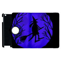 Halloween Witch   Blue Moon Apple Ipad 2 Flip 360 Case by Valentinaart