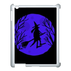 Halloween Witch   Blue Moon Apple Ipad 3/4 Case (white) by Valentinaart
