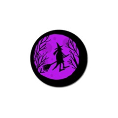 Halloween Witch   Purple Moon Golf Ball Marker (10 Pack) by Valentinaart