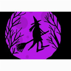 Halloween Witch   Purple Moon Collage Prints by Valentinaart