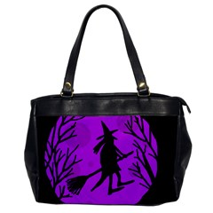 Halloween Witch   Purple Moon Office Handbags by Valentinaart