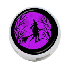 Halloween Witch   Purple Moon 4 Port Usb Hub (one Side) by Valentinaart