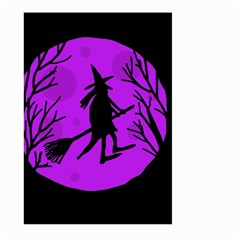Halloween Witch   Purple Moon Large Garden Flag (two Sides) by Valentinaart