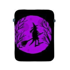 Halloween Witch   Purple Moon Apple Ipad 2/3/4 Protective Soft Cases by Valentinaart