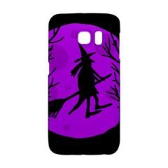 Halloween Witch   Purple Moon Galaxy S6 Edge by Valentinaart