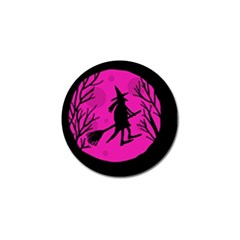 Halloween Witch   Pink Moon Golf Ball Marker (10 Pack) by Valentinaart