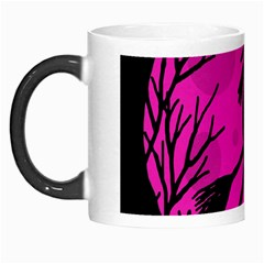 Halloween Witch   Pink Moon Morph Mugs by Valentinaart
