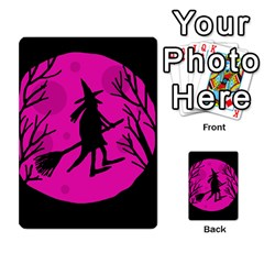 Halloween Witch   Pink Moon Multi Purpose Cards (rectangle)  by Valentinaart