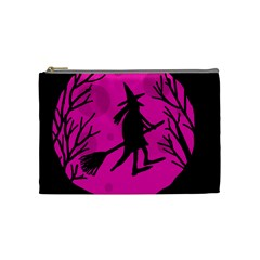 Halloween witch - pink moon Cosmetic Bag (Medium)