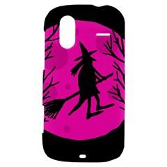 Halloween witch - pink moon HTC Amaze 4G Hardshell Case