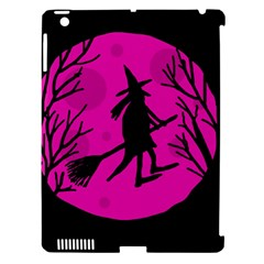 Halloween Witch   Pink Moon Apple Ipad 3/4 Hardshell Case (compatible With Smart Cover) by Valentinaart