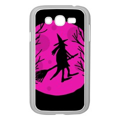 Halloween Witch   Pink Moon Samsung Galaxy Grand Duos I9082 Case (white) by Valentinaart