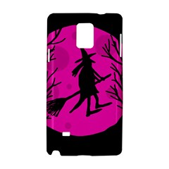 Halloween Witch   Pink Moon Samsung Galaxy Note 4 Hardshell Case by Valentinaart