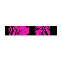 Halloween Witch   Pink Moon Flano Scarf (mini) by Valentinaart