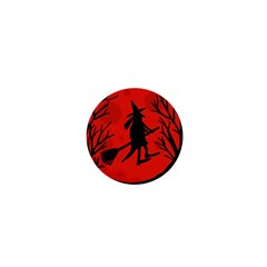 Halloween Witch   Red Moon 1  Mini Buttons by Valentinaart