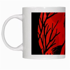 Halloween Witch   Red Moon White Mugs by Valentinaart