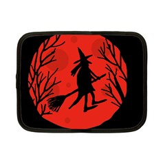 Halloween Witch   Red Moon Netbook Case (small)  by Valentinaart
