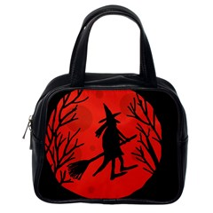 Halloween Witch   Red Moon Classic Handbags (one Side) by Valentinaart