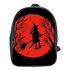 Halloween Witch   Red Moon School Bags(large)  by Valentinaart