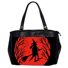 Halloween Witch   Red Moon Office Handbags (2 Sides)  by Valentinaart