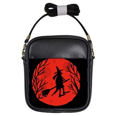 Halloween Witch   Red Moon Girls Sling Bags by Valentinaart