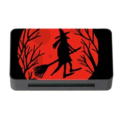 Halloween Witch   Red Moon Memory Card Reader With Cf by Valentinaart
