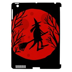 Halloween Witch   Red Moon Apple Ipad 3/4 Hardshell Case (compatible With Smart Cover) by Valentinaart
