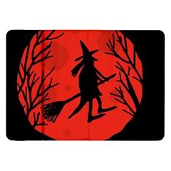 Halloween Witch   Red Moon Samsung Galaxy Tab 8 9  P7300 Flip Case by Valentinaart