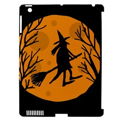 Halloween Witch   Orange Moon Apple Ipad 3/4 Hardshell Case (compatible With Smart Cover) by Valentinaart