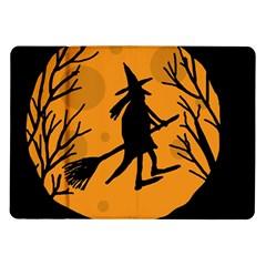 Halloween Witch   Orange Moon Samsung Galaxy Tab 10 1  P7500 Flip Case by Valentinaart