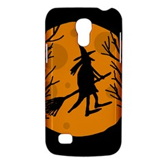Halloween Witch   Orange Moon Galaxy S4 Mini by Valentinaart