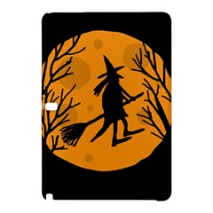 Halloween Witch   Orange Moon Samsung Galaxy Tab Pro 12 2 Hardshell Case by Valentinaart